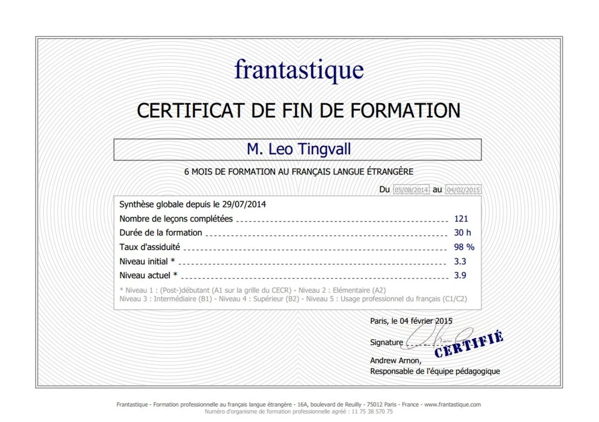 Diploma Frantastique